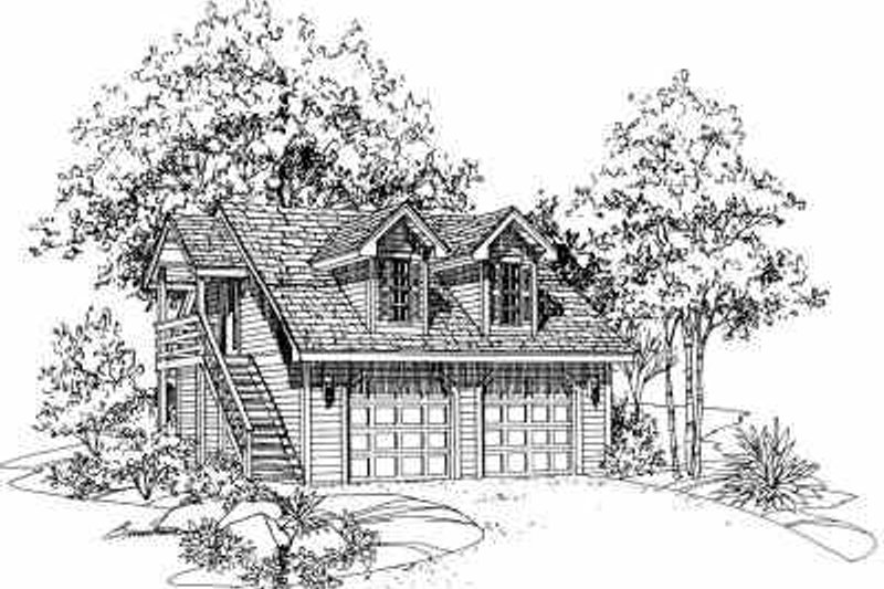 Traditional Exterior - Front Elevation Plan #72-241 - Houseplans.com