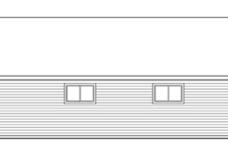 Traditional Exterior - Rear Elevation Plan #124-791 - Houseplans.com