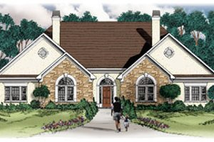 Traditional Exterior - Front Elevation Plan #26-117