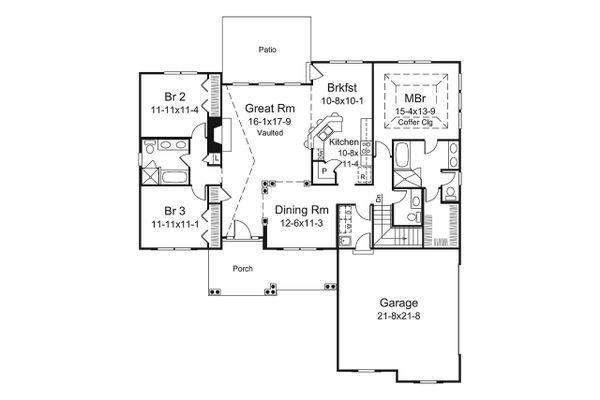 Ranch Floor Plan - Main Floor Plan Plan #57-658