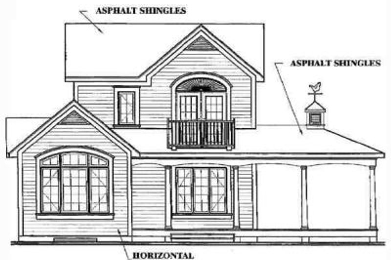 Country Exterior - Rear Elevation Plan #23-2164 - Houseplans.com