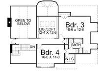 European Floor Plan - Upper Floor Plan Plan #119-257