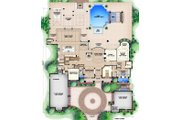 Colonial Style House Plan - 4 Beds 4.5 Baths 10297 Sq/Ft Plan #27-540 Floor Plan - Main Floor
