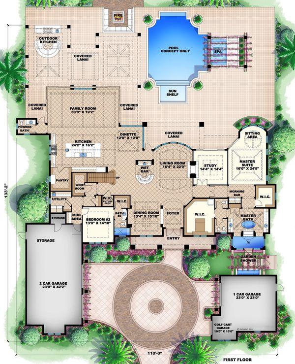 Colonial Floor Plan - Main Floor Plan #27-540