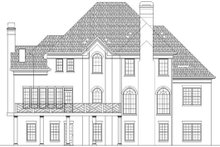 European Exterior - Rear Elevation Plan #119-110