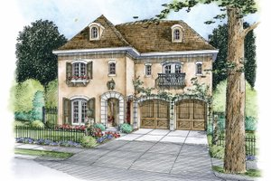 European Exterior - Front Elevation Plan #20-2170