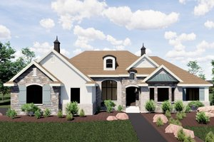 Traditional Exterior - Front Elevation Plan #920-20