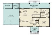 Country Style House Plan - 3 Beds 2.5 Baths 2245 Sq/Ft Plan #17-2617 Floor Plan - Main Floor Plan