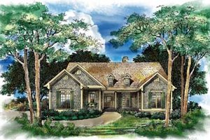 Traditional Exterior - Front Elevation Plan #71-109