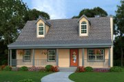 Craftsman Style House Plan - 3 Beds 2.5 Baths 1040 Sq/Ft Plan #456-9 Exterior - Front Elevation