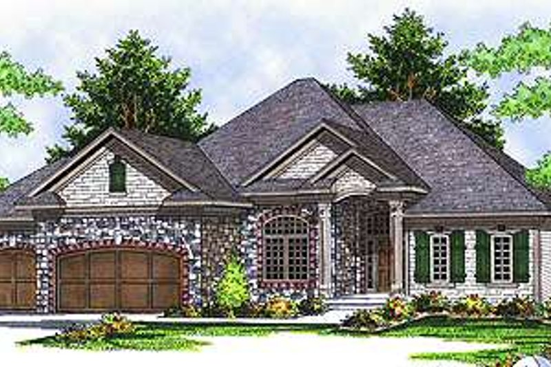 Traditional Exterior - Front Elevation Plan #70-607 - Houseplans.com
