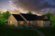 Country Style House Plan - 3 Beds 3 Baths 1863 Sq/Ft Plan #427-10 Exterior - Front Elevation