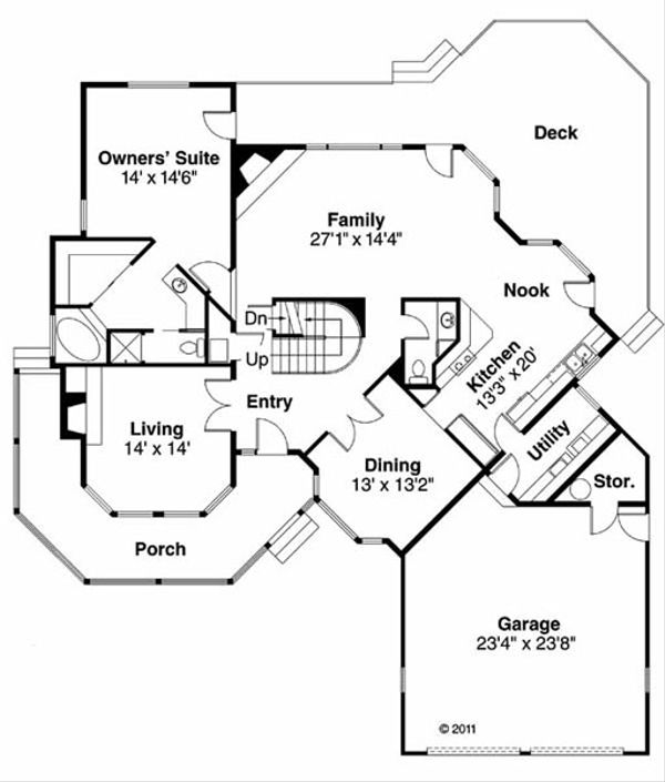 Traditional Floor Plan - Main Floor Plan Plan #124-103