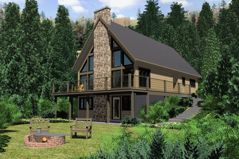 House Plan Design - Cottage Exterior - Front Elevation Plan #126-109