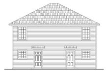 Home Plan - Traditional Exterior - Rear Elevation Plan #21-296