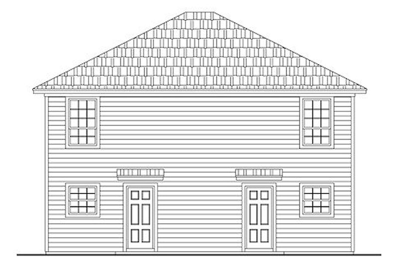 Traditional Exterior - Rear Elevation Plan #21-296 - Houseplans.com