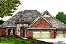 Dream House Plan - European Exterior - Front Elevation Plan #310-672