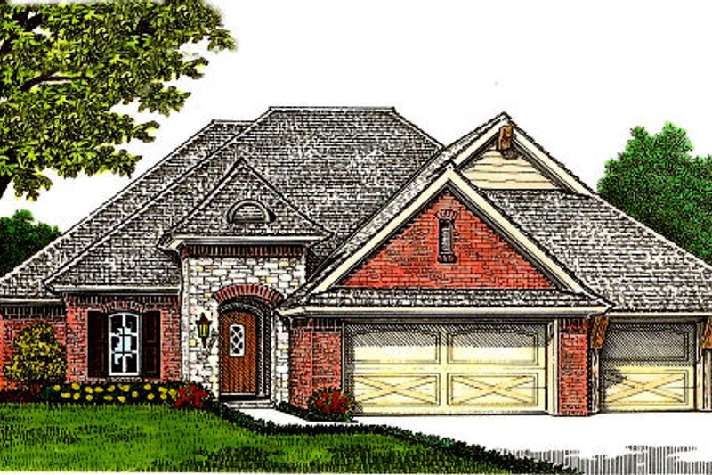 European Exterior - Front Elevation Plan #310-672
