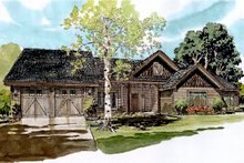 Home Plan - Ranch Exterior - Front Elevation Plan #942-54