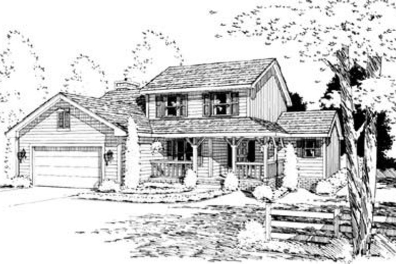 Traditional Exterior - Front Elevation Plan #20-681 - Houseplans.com