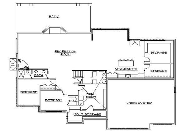 House Plan Design - Traditional Floor Plan - Lower Floor Plan #5-317