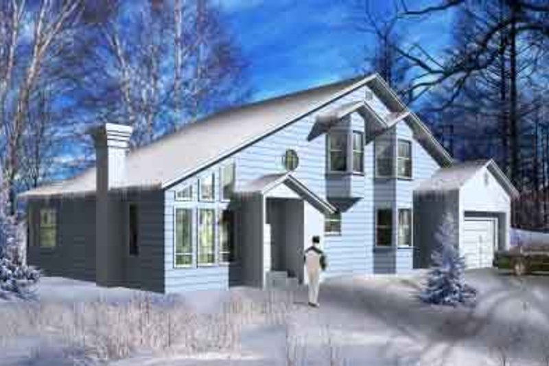 House Plan - 3 Beds 2 Baths 2069 Sq/Ft Plan #1-1156 Exterior - Front Elevation