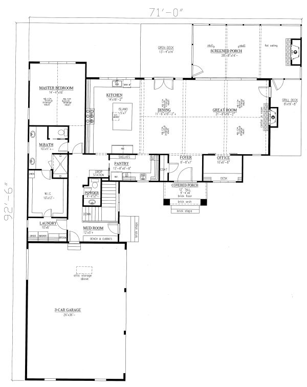 Modern Floor Plan - Main Floor Plan Plan #437-108