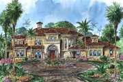 European Style House Plan - 5 Beds 5.5 Baths 8319 Sq/Ft Plan #27-277 Exterior - Front Elevation