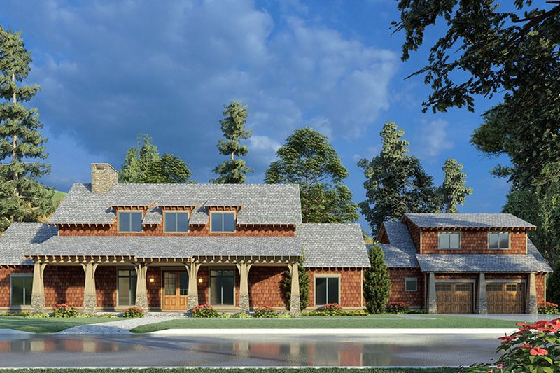 Home Plan - Country Exterior - Front Elevation Plan #923-195