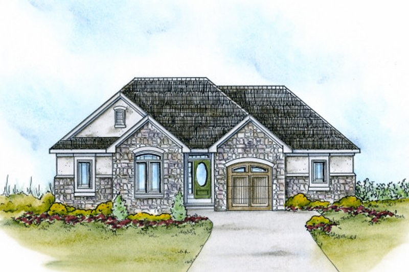 Dream House Plan - Traditional Exterior - Front Elevation Plan #20-2109