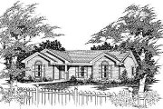Traditional Style House Plan - 3 Beds 2 Baths 975 Sq/Ft Plan #329-154 Exterior - Front Elevation