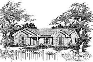 Traditional Exterior - Front Elevation Plan #329-154