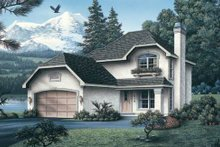 Home Plan Design - European Exterior - Front Elevation Plan #57-133
