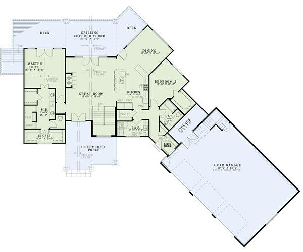 Craftsman Floor Plan - Main Floor Plan Plan #17-2486