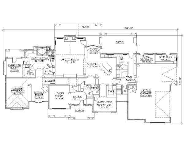 Architectural House Design - European Floor Plan - Main Floor Plan #5-453