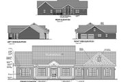 Southern Style House Plan - 3 Beds 3 Baths 2184 Sq/Ft Plan #56-170 Exterior - Rear Elevation