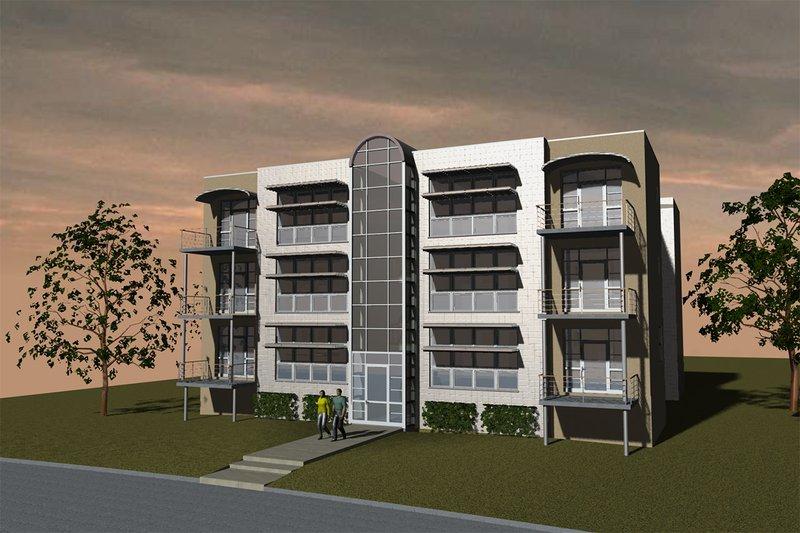 Home Plan - Modern Exterior - Front Elevation Plan #535-4