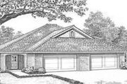 Traditional Style House Plan - 3 Beds 2 Baths 2740 Sq/Ft Plan #310-445 Exterior - Front Elevation