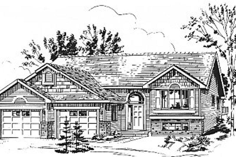 House Blueprint - Traditional Exterior - Front Elevation Plan #18-311