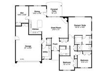 Ranch Floor Plan - Main Floor Plan Plan #124-1003