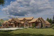 Craftsman Style House Plan - 4 Beds 5.5 Baths 6837 Sq/Ft Plan #923-179 Exterior - Other Elevation