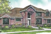 European Style House Plan - 3 Beds 2.5 Baths 2571 Sq/Ft Plan #124-209 Exterior - Front Elevation