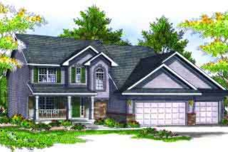 Traditional Exterior - Front Elevation Plan #70-700 - Houseplans.com