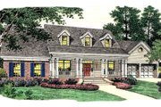 Colonial Style House Plan - 3 Beds 2.5 Baths 2225 Sq/Ft Plan #406-256 Exterior - Front Elevation