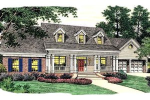 Colonial Exterior - Front Elevation Plan #406-256