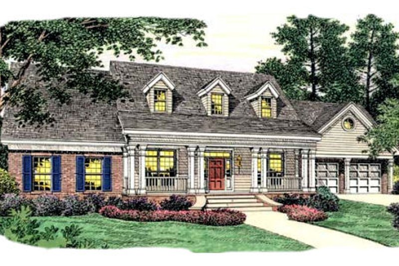 Dream House Plan - Colonial Exterior - Front Elevation Plan #406-256