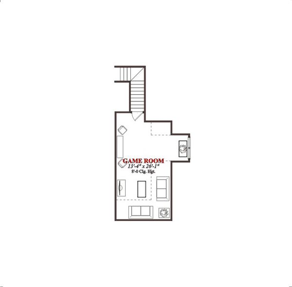 Traditional Floor Plan - Upper Floor Plan Plan #63-198