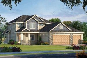 Craftsman Exterior - Front Elevation Plan #20-2473