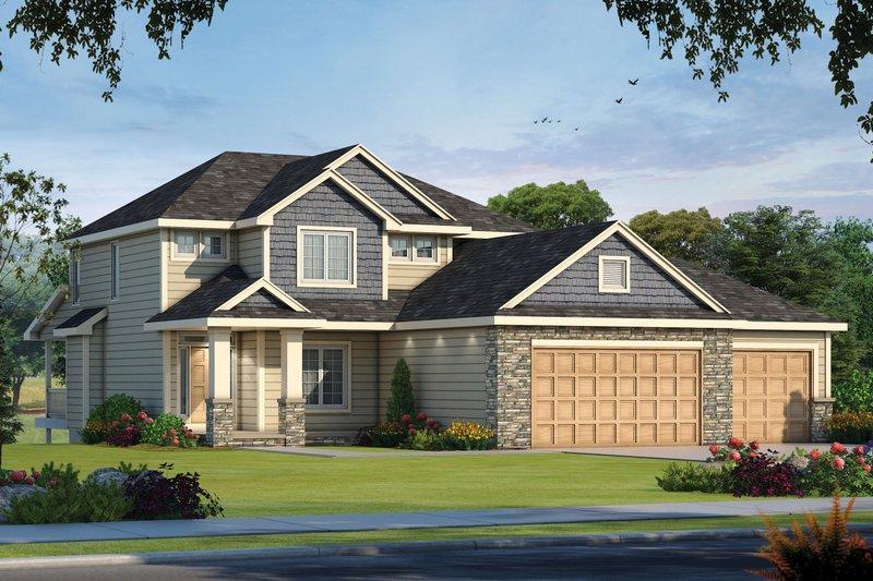 Dream House Plan - Craftsman Exterior - Front Elevation Plan #20-2473