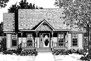 Country Style House Plan - 2 Beds 2 Baths 1036 Sq/Ft Plan #14-153 Exterior - Front Elevation